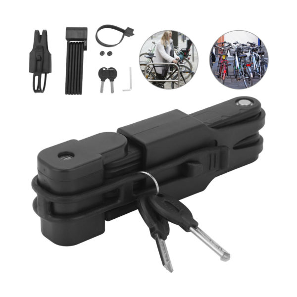 Folding Bicycle Cable lock Security Anti-Theft Combination MTB Road Bicycle Lock