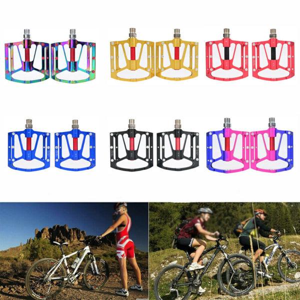 Folding bikes Pedals Bike 3 Bearing Flat Aluminum alloy Cycling Mountain