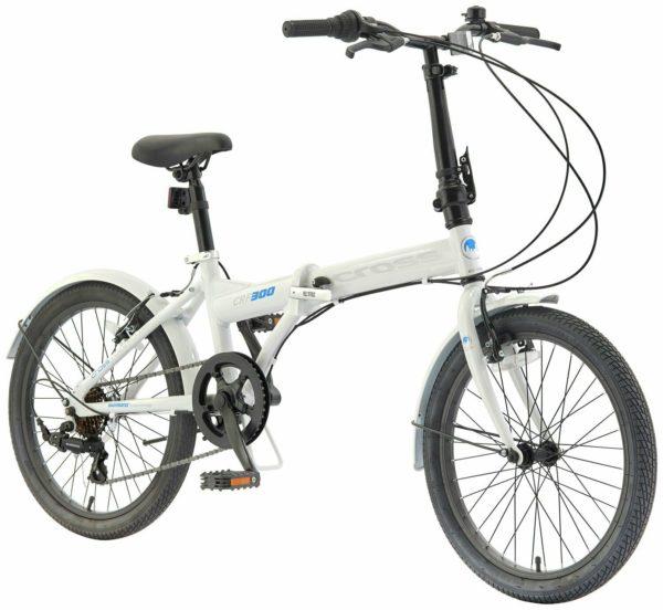 Cross CRF300 20 Inch Rigid Suspension Men's Folding Bike - White