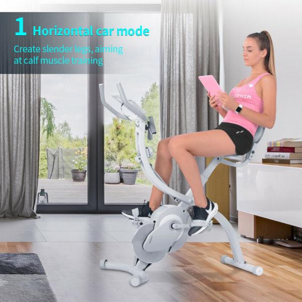 Folding Bike Indoor Exercise Bike Gym Training Home Fitness Workout Adjustable