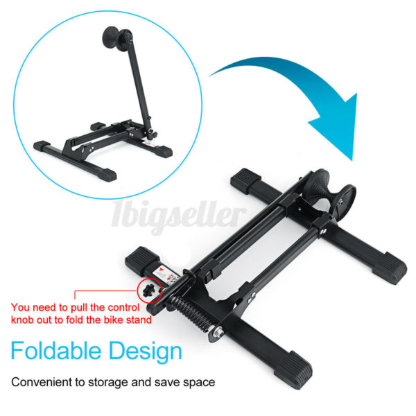 Portable Folding Bike Stand Bicycle Floor Ground Parking Holder Storage Rack Kit