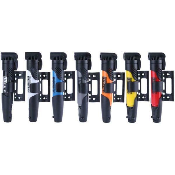 Portable Folding Bicycle Air Pump Inflator for Presta Schrader Valve