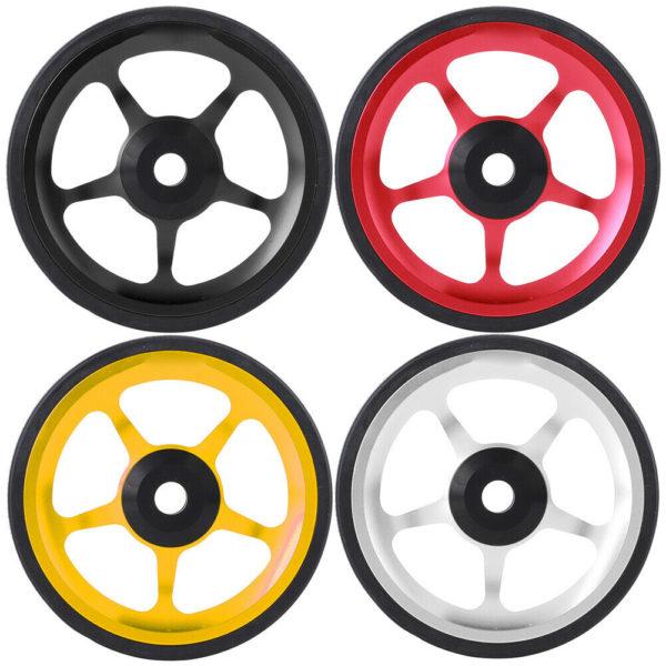 Folding Bike Aluminum Easy Wheel Riding Bike Push Wheel w/Mounting Screw Durable