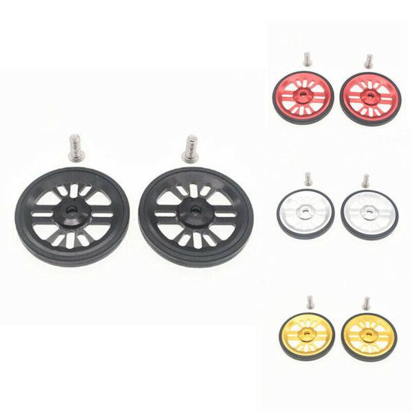2Pcs Folding Bike Easywheel for Brompton Bicycle Bearing Wheel Aluminum wit L8S9