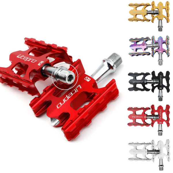 Ultralight Folding Bicycle MTB Bike Pedals Aluminum Alloy DU Bearing Pedals