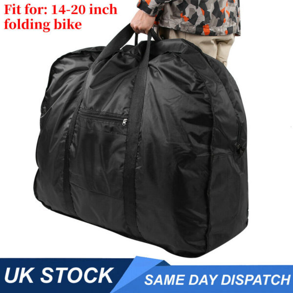 Portable Folding Bike Carry Bag Strong Heavy Duty Bicycle Cycle Travel Carrier
