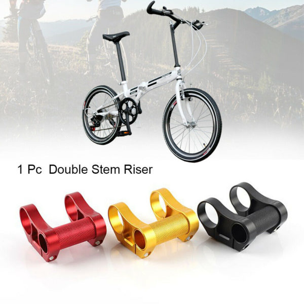 25.4mm To 31.8mm Folding Bicycle Solid Repair Double Stem Riser Aluminium Alloy
