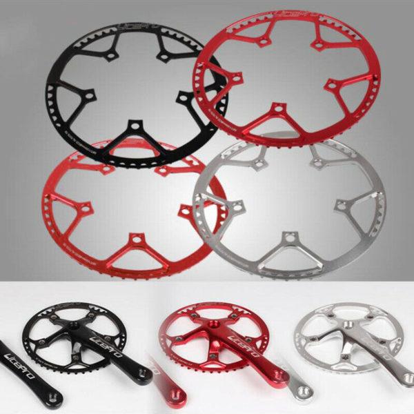 Road Folding Bike Crankset Crank Arm Chainring 45/47/53/56/58T Components Parts