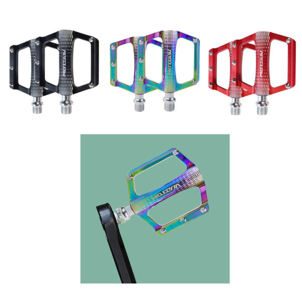Folding Bicycle Pedals Flat Platform M14x1.5mm for Road Mountain Bike Cycling