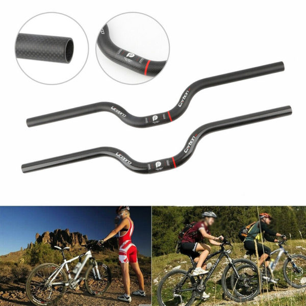 Folding Bike Handlebar Carbon Fiber Bicycle Handlebar Riser 25.4X580mm M Handle