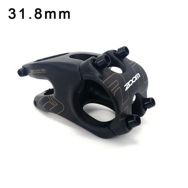 -12° Bicycle stem CNC Folding bicycle Black Mountain bike Practical Useful