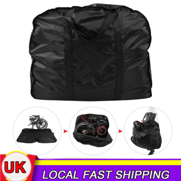 Folding Bicycle Bike Carry Bag Travel Carrier Transport Luggage Fit 14-20 inch
