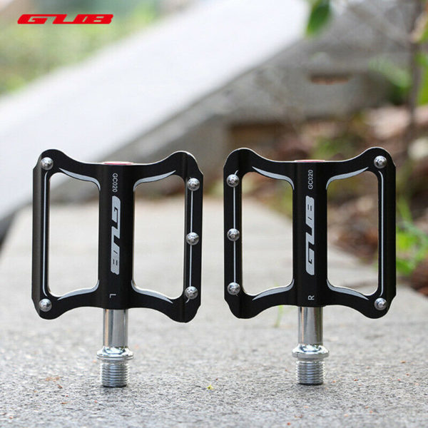 Pedals Mountain bike Folding Bicycle DU Seal Aluminum Alloy Black 1 Pair Useful