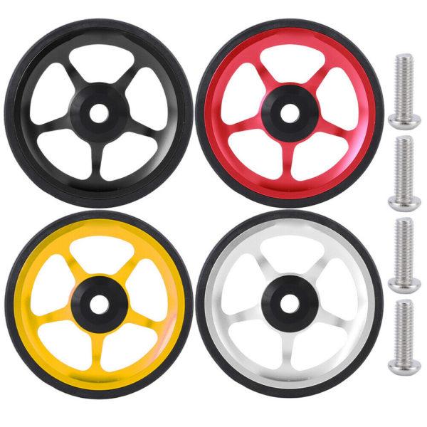 Folding Bike Aluminum Easy Wheel Riding Bike Push Wheel with Mounting Screw