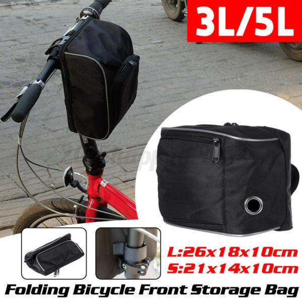 3/5L Waterproof Folding Bicycle Storage Basket Front Bike Cycling Carrier
