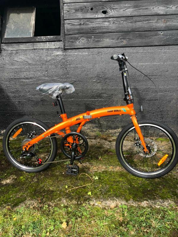 Air-Bike 20 Inch Foldable Bike in Orange, folding bicycle