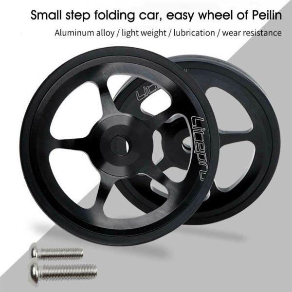 2pcs Professional Easy Wheels Folding Bike CNC Rear Aluminum Alloy For Brompton