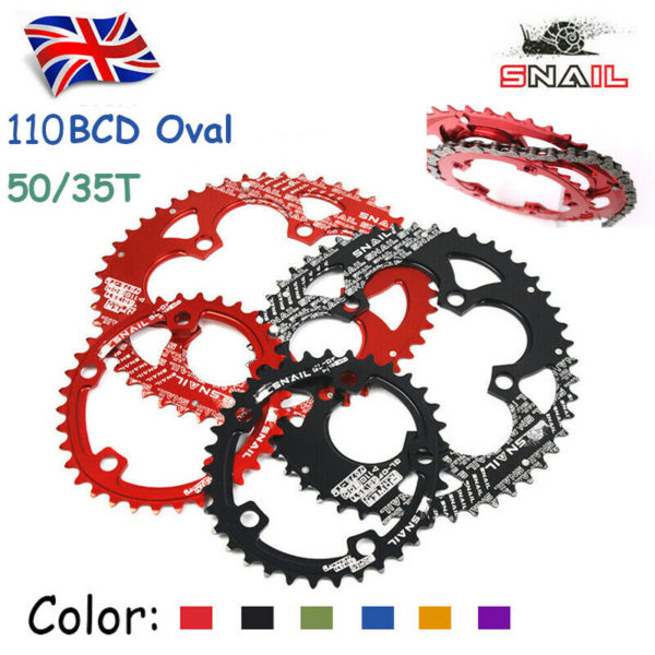 SNAIL Road Folding Bike 110BCD 50/35T Double Oval Chaining  Sprocket Bolt CNC UK