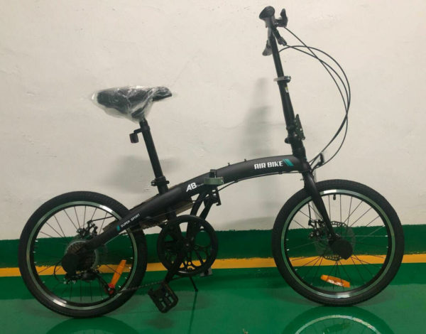 Air-Bike 20 Inch Foldable Bike in Black, folding bicycle