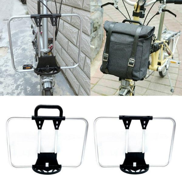 Bike Front Carrier Block Folding Bike Bag Bracket Basket Holder Alloy Bag Cargo