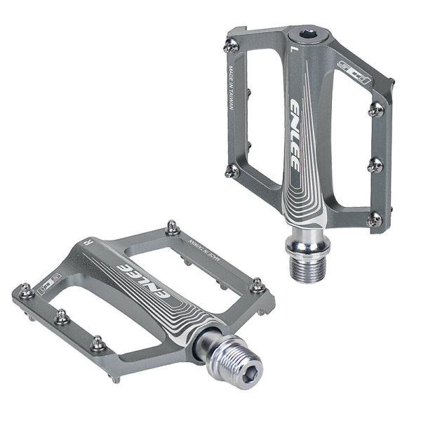 Folding Bike Pedals Aluminium Alloy Flat Bicycle Platform Pedals Mountain J6M7