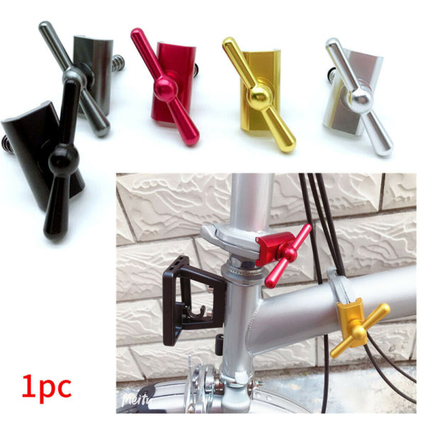 UK Folding Bike Buckle Outdoor Cycling C Type Magnetic Hinge Clamp For Brompton