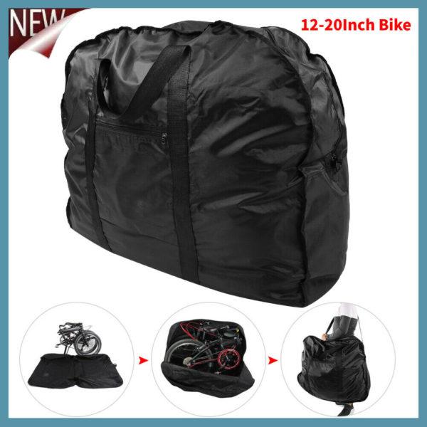 Bike Travel Transport Bag Folding Bike Bicycle Carrier Bag Case Fit 14-20 inch