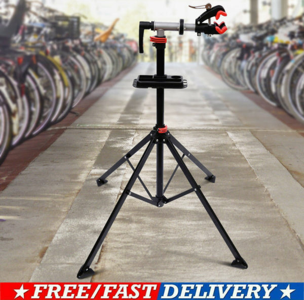 Folding Bicycle Bike Maintenance Repair Stand Mechanic Workstand Rack i8
