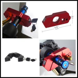Universal Motorcycle/Bike Handlebar Lock-On Grip Folding Bike Anti-Theft Lock HD