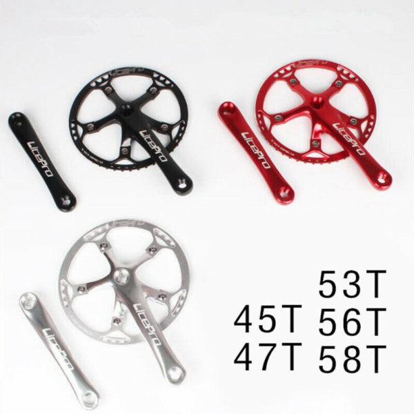 Folding Bike Bicycle Crank + Crankset Alloy 45T/ 47T/53T/56T/58T Durable
