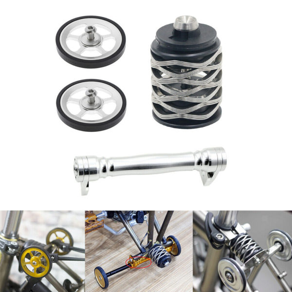 Solid Folding Bike Easy Wheel Modified Wheels Rear Shock Mount Extend Bar
