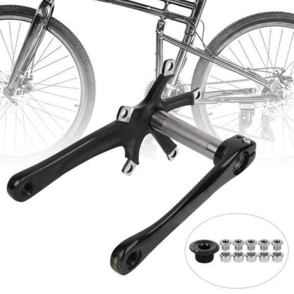 Bicycle Conversion Crankset Left and Right Crank Cycling for Road Folding Bike