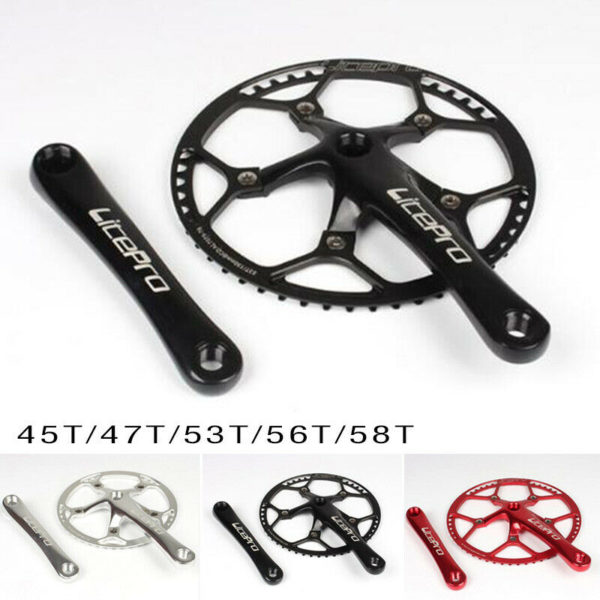 Aluminum Alloy Crankset Cycling Replacement Parts Folding Bicycle Bike