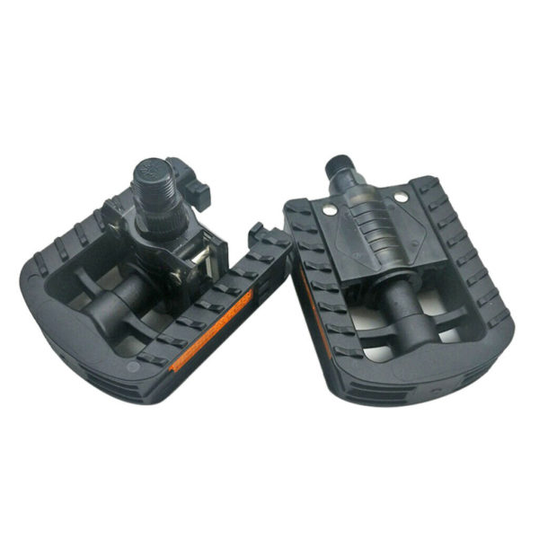 "Non-Slip Bike Pedal 9/16"" Folding Bicycle Pedals w/ Reflectors Flat Folder Pedal"