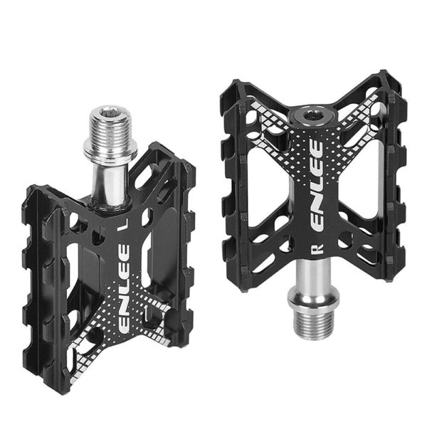 Folding Bike Pedals Aluminium Alloy Flat Bicycle Platform Pedals Mountain A8W6