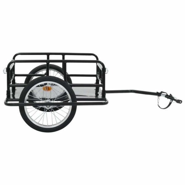 Folding Bicycle Cargo Bike Trailer Storage Enclosed Cart Removable Cover Hitch