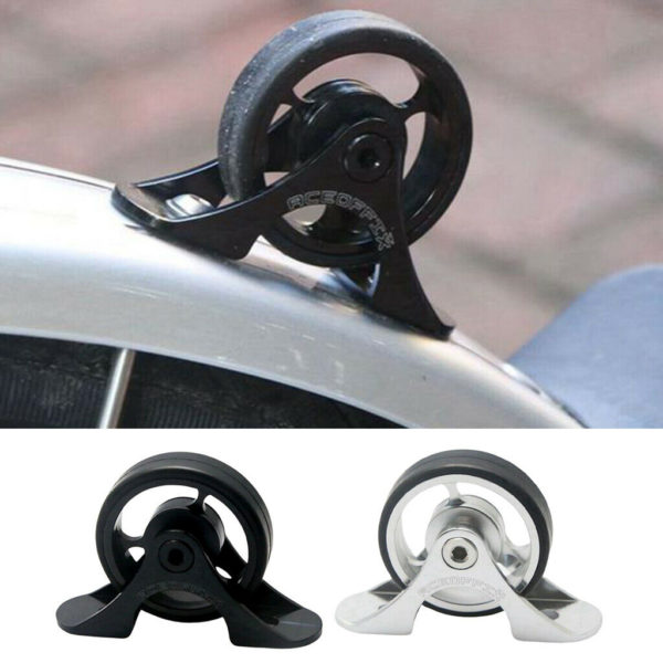 2 Pack Bicycle Easywheel Mudguard Easy Wheel for Folding Bike Parking Wheels