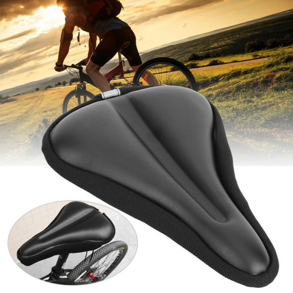 Mountain Road Bike Saddle Comfortable Waterproof Folding Bicycle Seat Black