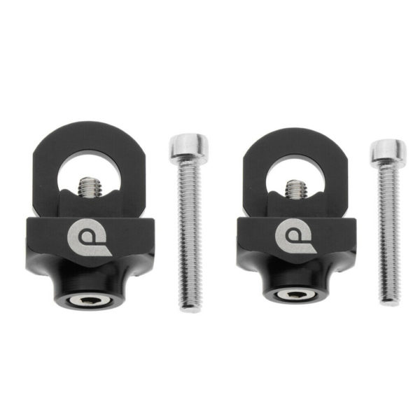 2x Compact Bike Chain Tensioner Folding Bicycle Tightener Adjuster Adjust Bolt