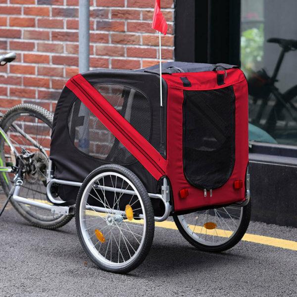 Outdoor Child Pet Stroller Dog Jogger Folding Bike Cargo Trailer Carrier Bicycle
