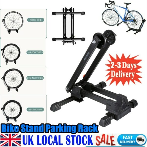 Portable Folding Bike Stand Floor Parking Rack Bicycle Storage Display Holder UK