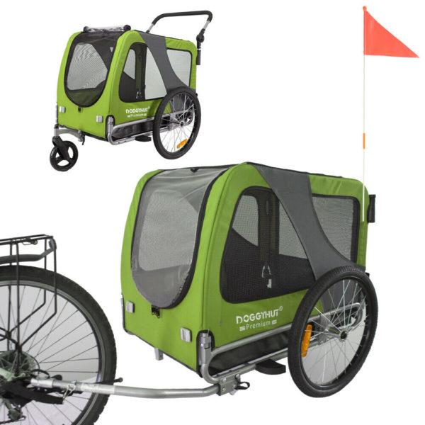 Doggyhut Large Pet Trailer & Stroller 2 in 1 Folding Bike Dog trailer carrier