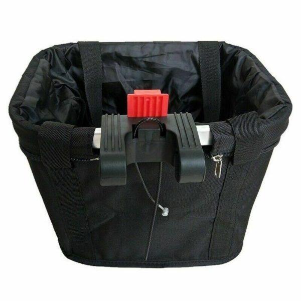Bike Front Handlebar Folding Bicycle Basket Frame Bag Pet Carrier Shopping Bag!