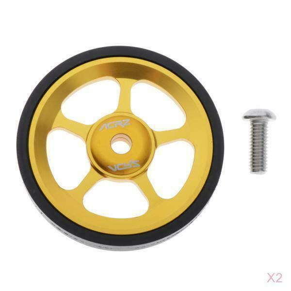 2x Folding Bicycle Easywheel Modification Wheel Replacement for Brompton