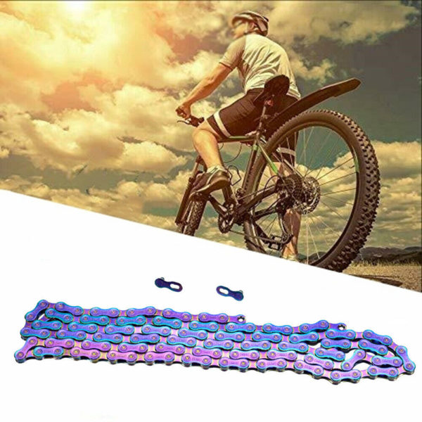 Bicycle chain MTB Chains Colorful vacuum plating 116 links Folding bike Durable.