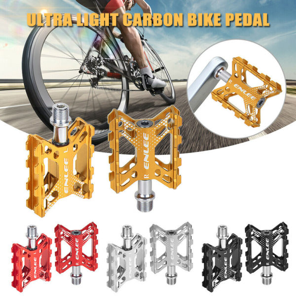 Folding Bike Pedals Aluminium Alloy Flat Bicycle Platform Pedals Mountain E3T6