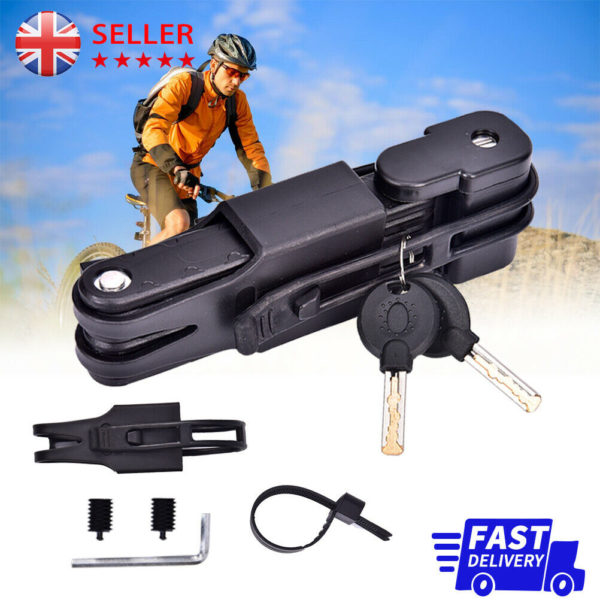 Bike Security Anti-Theft Combination Folding Bicycle Cable Lock Steel UK STOCK
