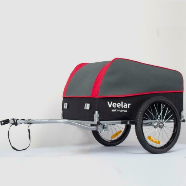 Folding Bike Cargo Trailer Trolley Luggage Storage Cart Carrier With Hitch 130L