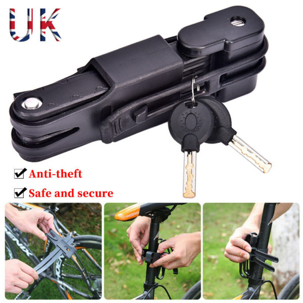 Folding Bicycle Cable Lock Steel Bike Security Anti-Theft Combination UK