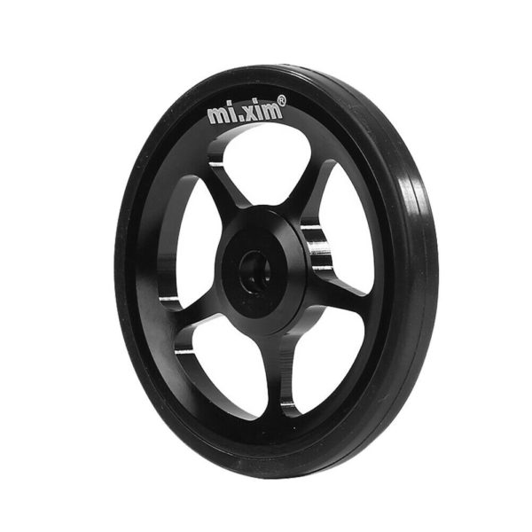 Mi.Xim Aluminum Easy Wheel with M6 Bolt for Brompton Folding Bike (Black)